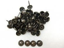 100 Dark Antique Upholstery Nails Craft Tacks Upholsterer Wood Pin Fabric Sewing